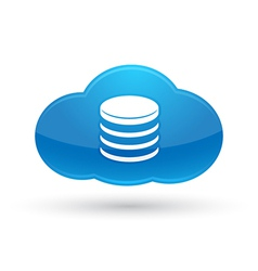 Cloud Computing Database Icon vector image