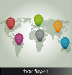 Information continent global world map vector