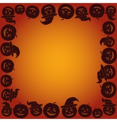 Background with pumpkins jack o lantern vector
