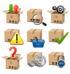 Shipment icons set 8 vector