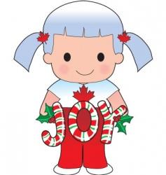 Canadian Christmas scene vector image