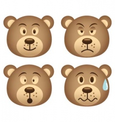 bear expression vector image