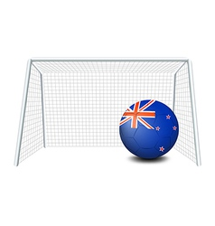 A ball near the net with the flag of New Zealand vector image