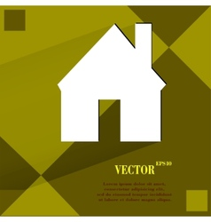 Home flat modern web design on a flat geometric vector
