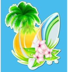 summer insignia vector image