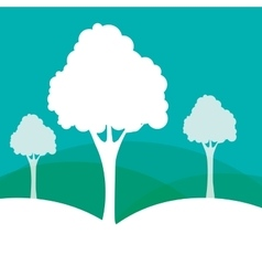 Forest nature and tree design vector