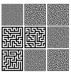 Medium mazes set vector