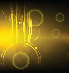 golden technology background vector image