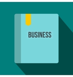 Business book with bookmark icon flat style vector