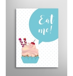 Eat me phrase lettering vector