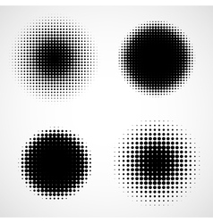 Abstract Halftone Backgrounds Set vector image