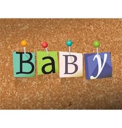 Baby concept vector