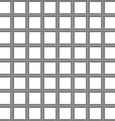 Black and white seamless line pattern vector image vector image
