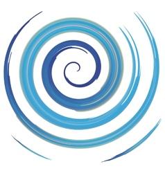 Blue watercolor spiral vector