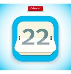 Calendar app icon flat style design vector