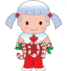 Canadian Christmas scene vector image