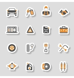 Car Service Icons Sticker Set vector image vector image