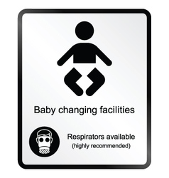 Comical baby changing facilities information sign vector