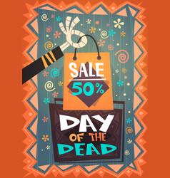 Day of dead traditional sale banner holiday vector