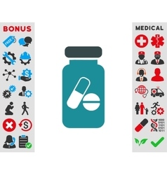 Drugs Phial Icon vector image vector image