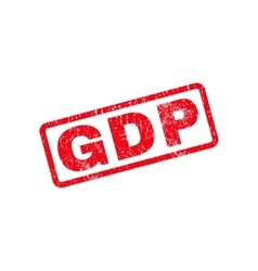 Gdp text rubber stamp vector