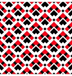 Geometric white red black ethnic pattern vector
