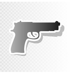 gun sign new year blackish vector image vector image