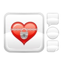 Happy valentines day romance love heart lock vector