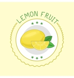 Lemon badge vector