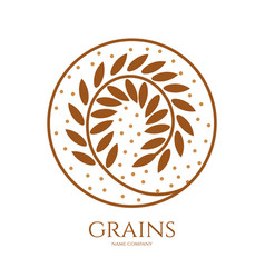 Linear icon of grains of wheat or other grain vector