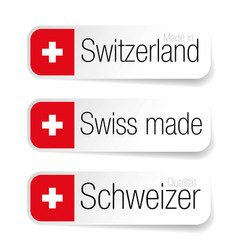 Made in switzerland - swiss made label vector