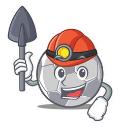 Miner football character cartoon style vector