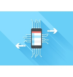 Mobile data processing vector