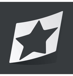 Monochrome star sticker vector image vector image