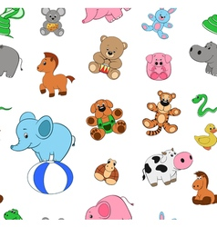 Pattern of funny animals vector