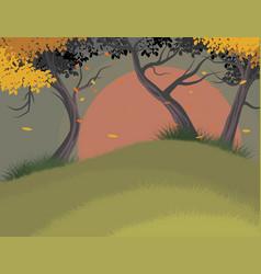trees falling scene vector image vector image