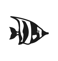 Fish sea life marine aquatic swim icon vector