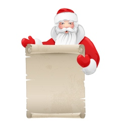 Santa claus with the manuscript vector image