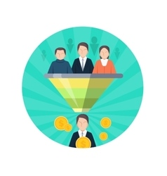 Target audience flat style seo icon people vector