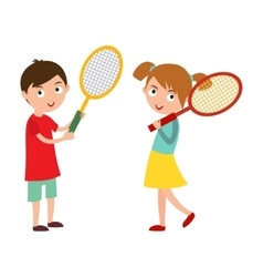 Good looking tennis player vector image