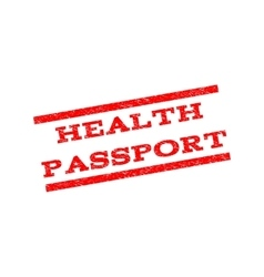 Health passport watermark stamp vector