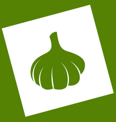 Garlic simple sign  white icon obtained as vector
