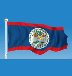 Flag of belize vector