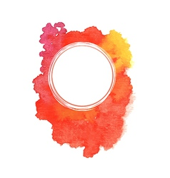 Abstract red watercolor background vector