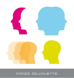 Silhouette faces vector