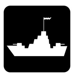 Warship button vector