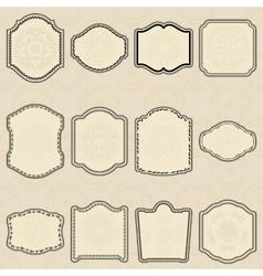 Set of design elements-vintage labels vector