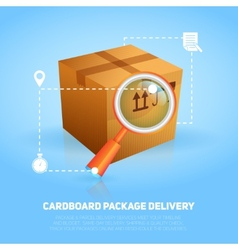 Logistic package poster vector