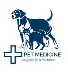 Pet clinic logo vector