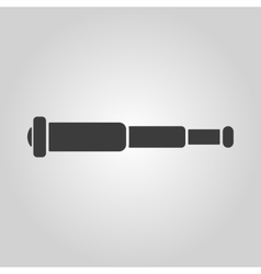 The spyglass icon search symbol flat vector